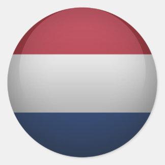 Bandeira dos Países Baixos Adesivos Redondos