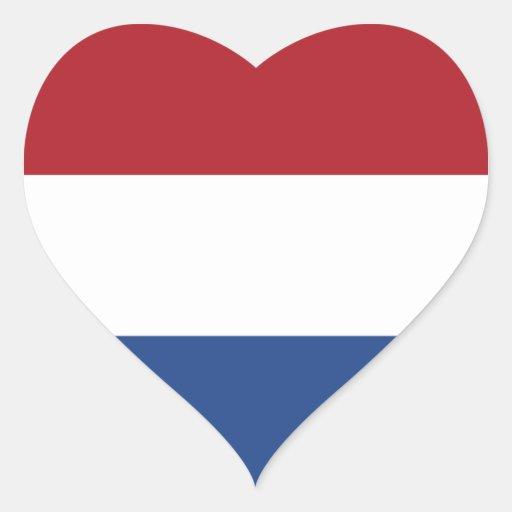 Bandeira dos Países Baixos Adesivo Em Forma De Coração