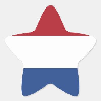 Bandeira dos Países Baixos Adesivo Estrela