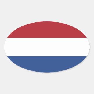 Bandeira dos Países Baixos Adesivos Em Formato Ovais
