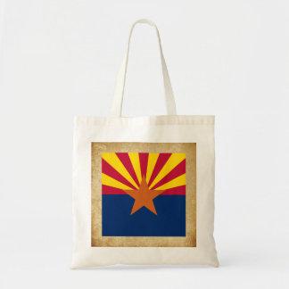 Bandeira dourada da arizona sacola tote budget