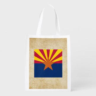 Bandeira dourada da arizona sacolas ecológicas
