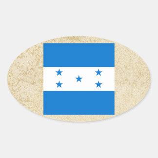 Bandeira dourada de Honduras Adesivo Oval