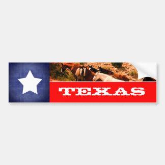 Bandeira e cavalos de Texas Adesivo De Para-choque