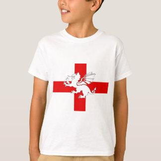 Bandeira e dragão de Inglaterra Camiseta