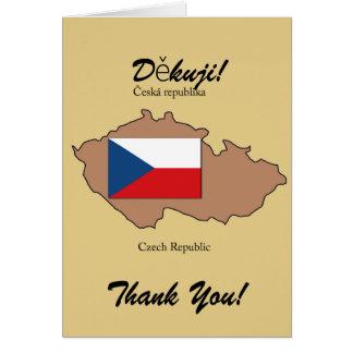 Bandeira e mapa de cartões de agradecimentos da