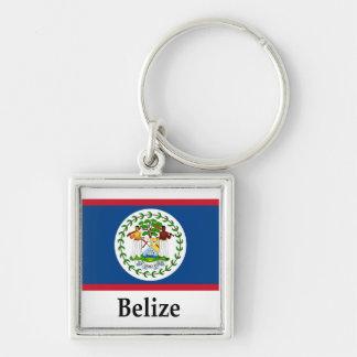 Bandeira e nome de Belize Chaveiro