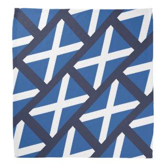 Bandeira escocesa do bandana azul do teste padrão
