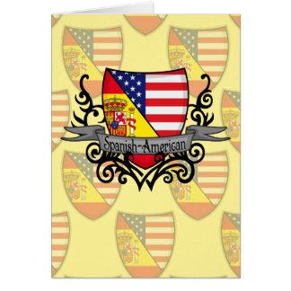 Bandeira Espanhol-Americana do protetor Cartões