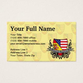 Bandeira Espanhol-Americana do protetor Cartão De Visitas
