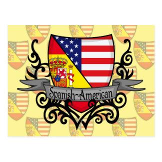 Bandeira Espanhol-Americana do protetor Cartão Postal