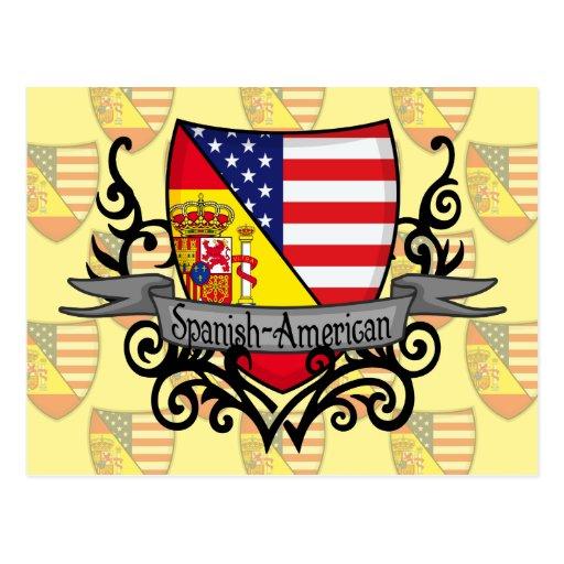 Bandeira Espanhol-Americana do protetor Cartao Postal