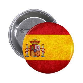 Bandeira espanhola bóton redondo 5.08cm