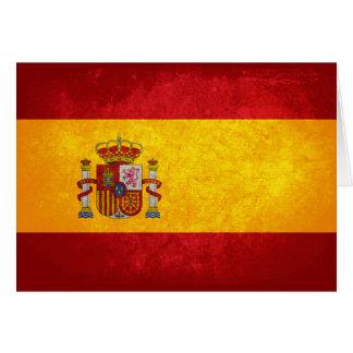 Bandeira espanhola cartão de nota