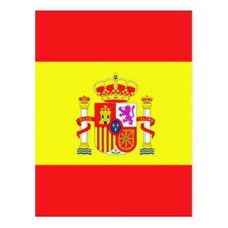 Bandeira espanhola cartão postal