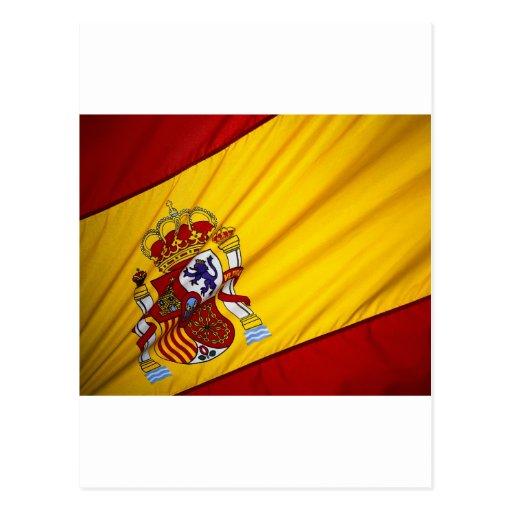 Bandeira espanhola cartao postal