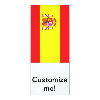Bandeira espanhola convite 10.16 x 23.49cm
