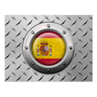 Bandeira espanhola industrial com gráfico de aço