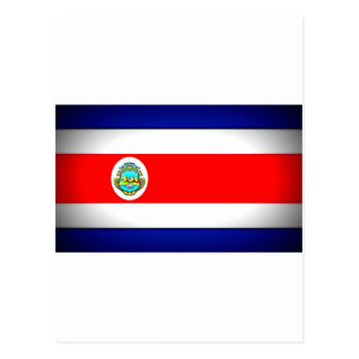 Bandeira estilizado de Costa Rica Cartão Postal