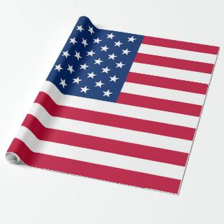 Bandeira EUA americanos de América Papel De Presente