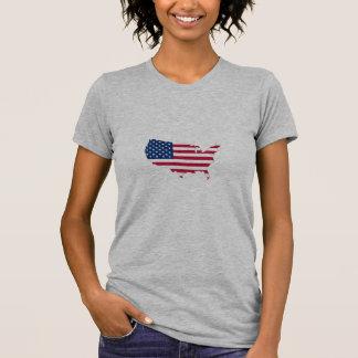 Bandeira EUA país Camiseta