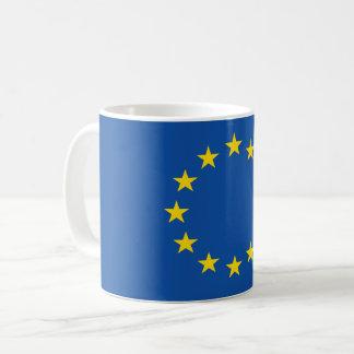 Bandeira européia abstrata, caneca poli da arte de