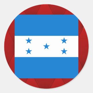 Bandeira extravagante de Honduras no fundo Adesivo