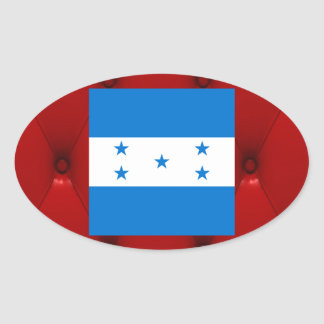 Bandeira extravagante de Honduras no fundo Adesivo Oval