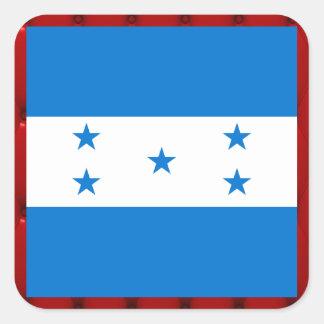 Bandeira extravagante de Honduras no fundo Adesivo Quadrado