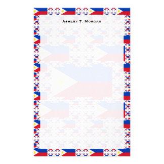 Bandeira filipino em camadas múltiplas papelaria