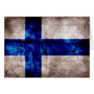 Bandeira finlandesa cartão de nota