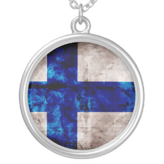 Bandeira finlandesa colar