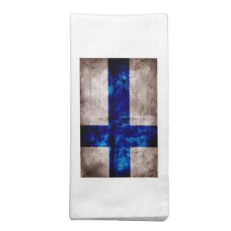 Bandeira finlandesa guardanapo
