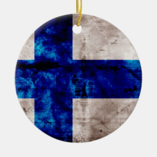 Bandeira finlandesa enfeite de natal