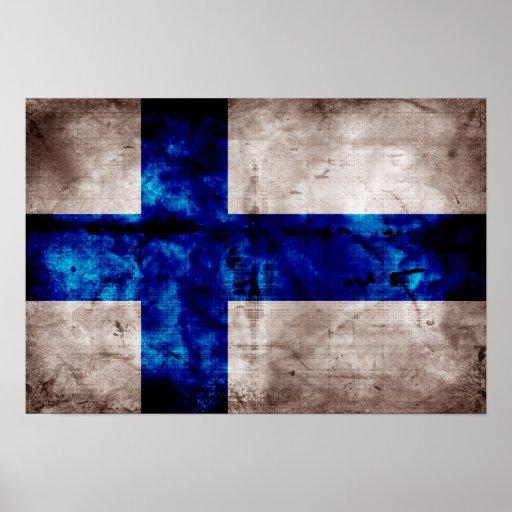 Bandeira finlandesa pôsteres
