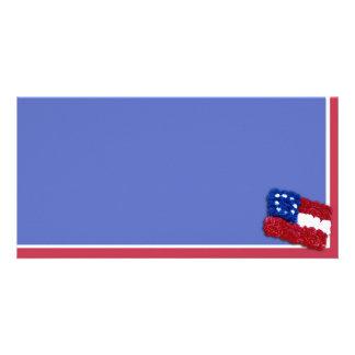 Bandeira floral cartao com fotos