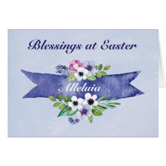 Bandeira floral da aguarela da páscoa, religiosa cartão comemorativo