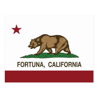 Bandeira Fortuna da república de Califórnia Cartão Postal