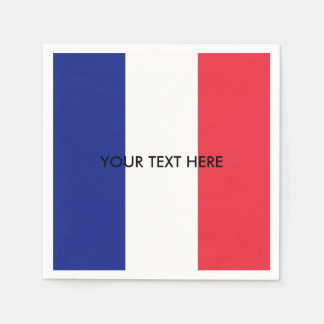 Bandeira francesa de guardanapo feitos sob