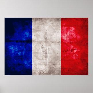 Bandeira francesa poster