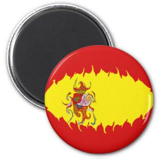 Bandeira Gnarly da espanha Ímã Redondo 5.08cm