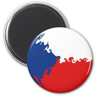 Bandeira Gnarly da república checa Ima De Geladeira