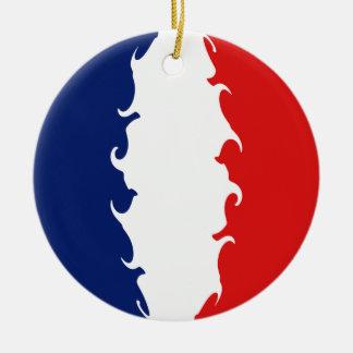 Bandeira Gnarly da reunião Ornamento De Cerâmica Redondo