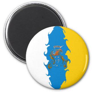 Bandeira Gnarly das Ilhas Canárias Imãs