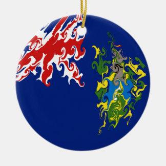 Bandeira Gnarly das Ilhas Pitcairn Ornamento