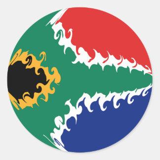 Bandeira Gnarly de África do Sul Adesivos Em Formato Redondos