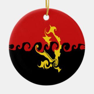 Bandeira Gnarly de Angola Ornamento Para Arvores De Natal