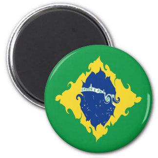 Bandeira Gnarly de Brasil Imã De Geladeira