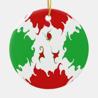 Bandeira Gnarly de Burundi Ornamento De Cerâmica Redondo