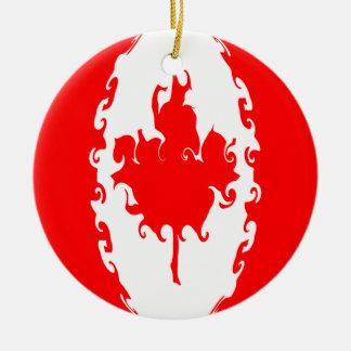 Bandeira Gnarly de Canadá Ornamentos